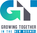 Growing Together in the New Normal Vertical Logo
